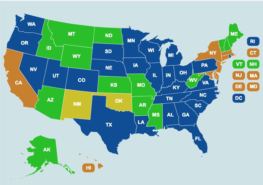 Guns to Carry USA Map